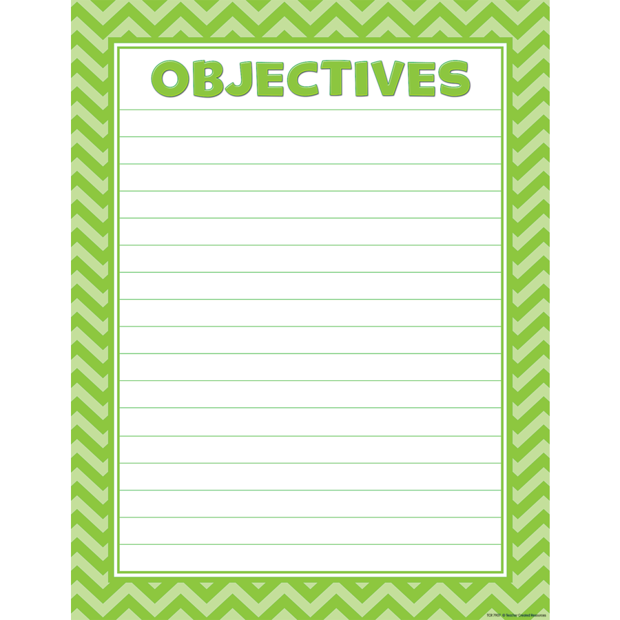 X TCR 7907 OBJECTIVES RULED CHART