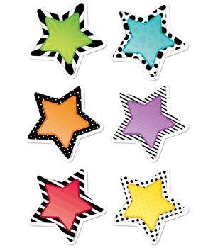 CTP 3360 BOLD & BRIGHT STARS CUTOUTS