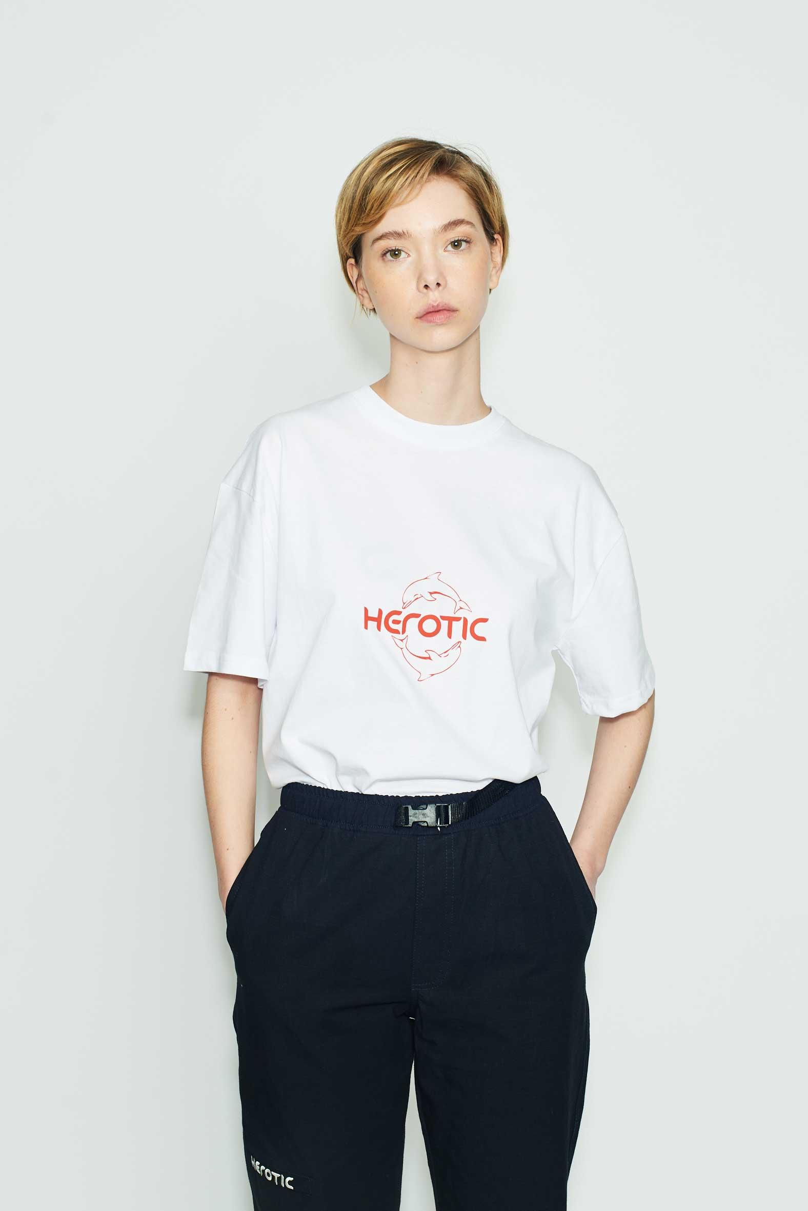 Herotic - OG Logo T-Shirt - White/Red