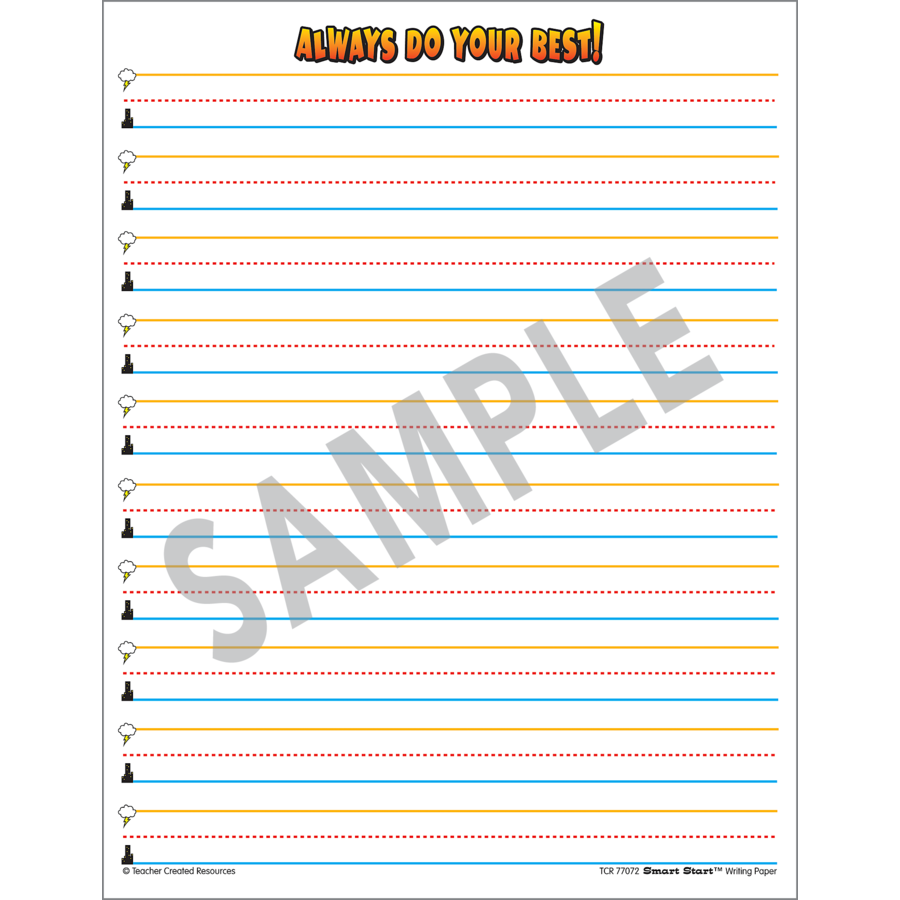 TCR 77072 SMART START GRADE 1-2 WRITING PAPER 100