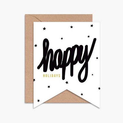 Happy Holidays Star Card