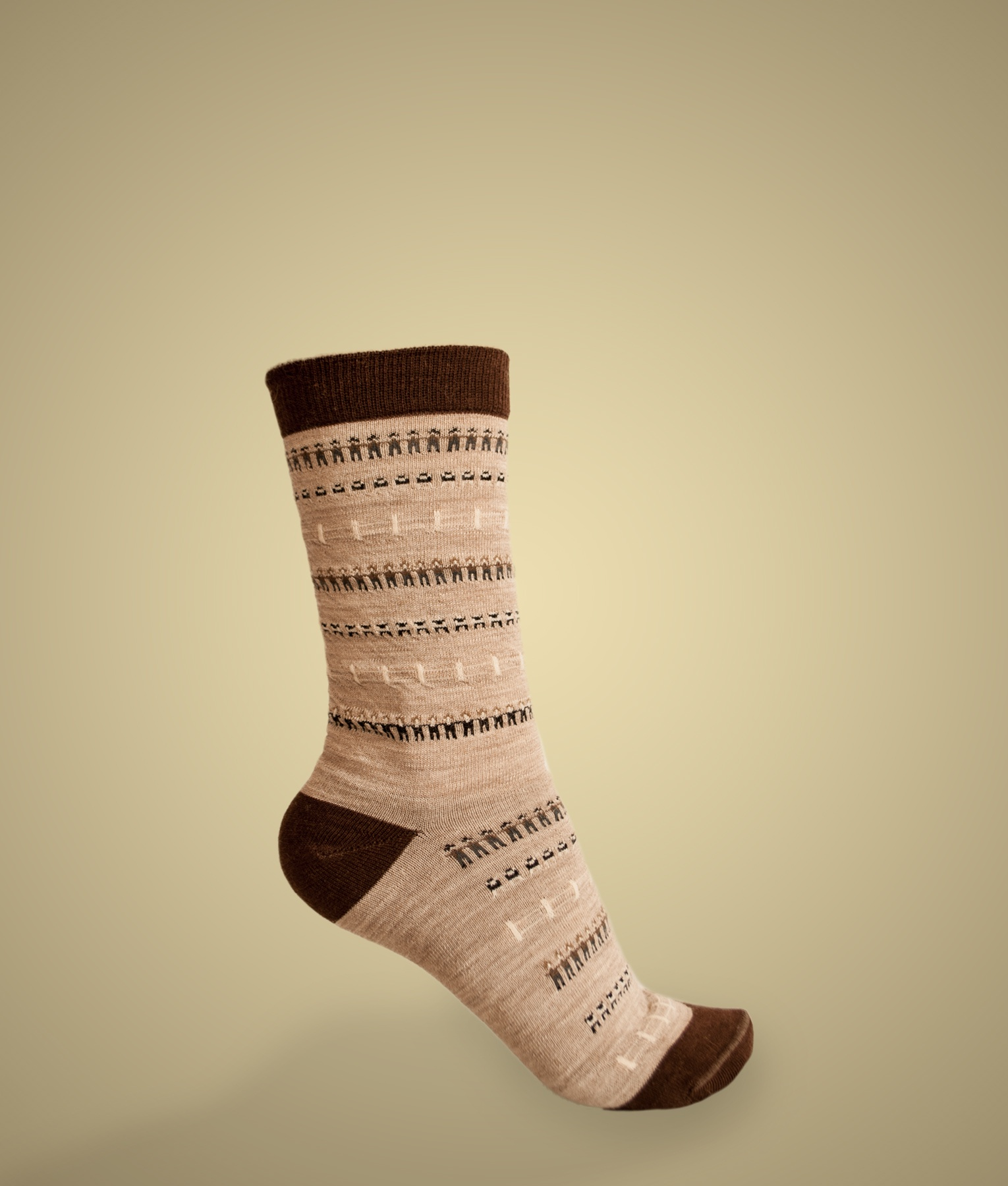THE VILLAGE JACQUARD SOCKS C001