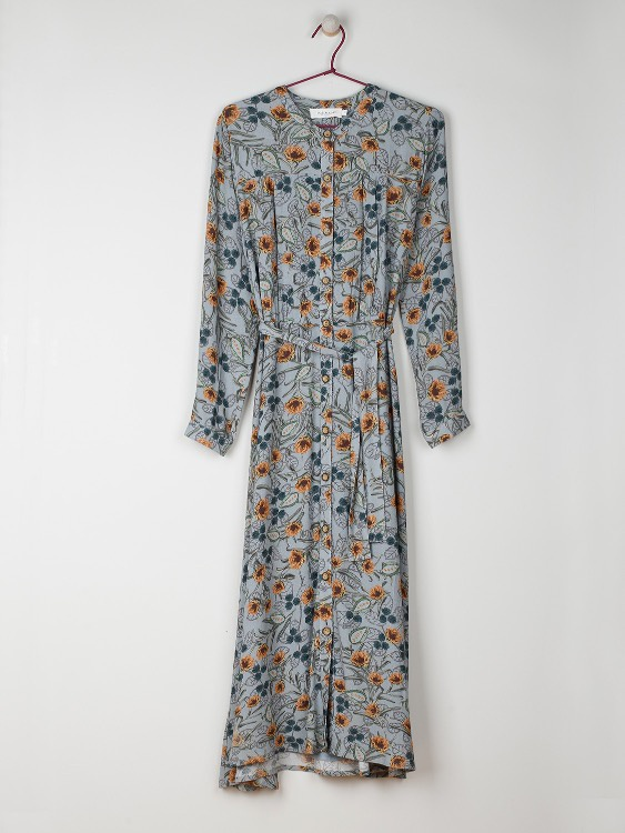 Indi & Cold Dress Vestido Azul Vintage