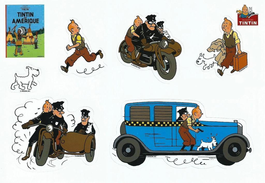 Tintin Stickers En Amerique