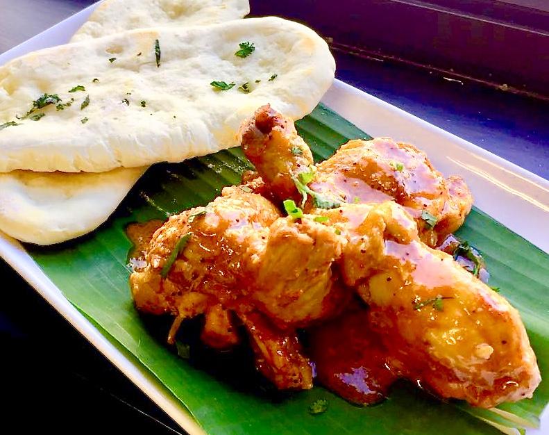 2018-0801 Naan & Chettinad Chicken 印度薄餅+南印度咖哩雞