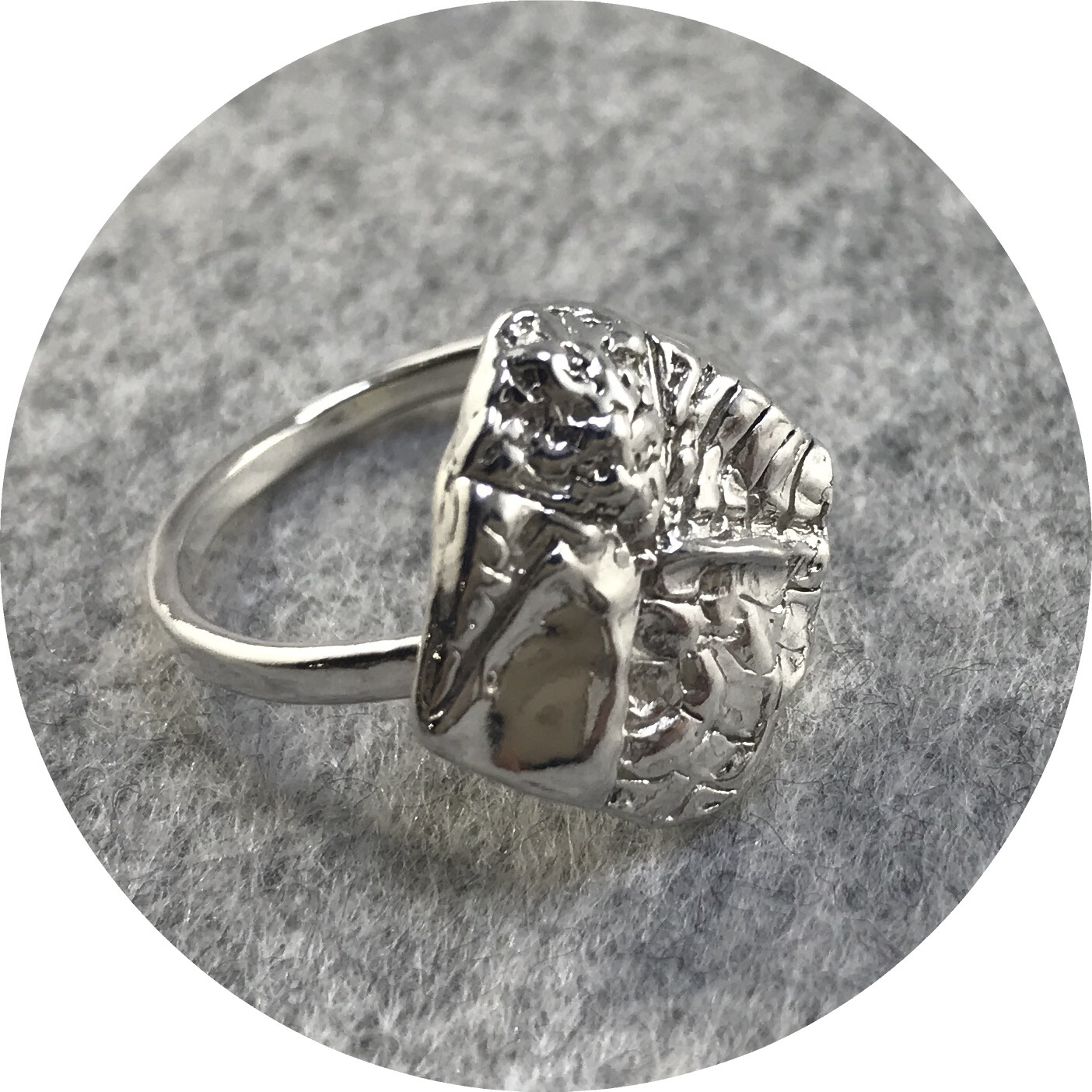 Lizzie Slattery- Fusion Texture ring. Sterling silver. size R.