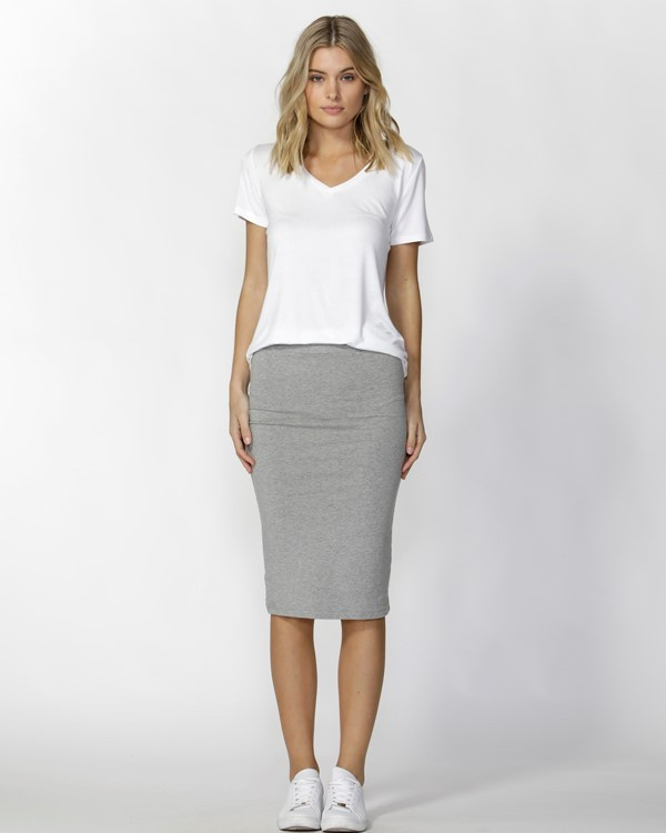 e328a2835 Betty Basics Alicia Midi Skirt - Silver Marle - Out There Surf