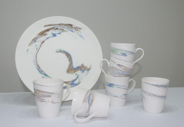Strata Porcelain Mug