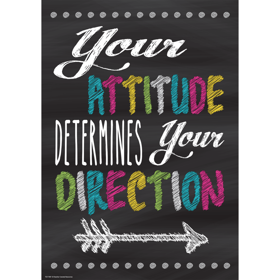 TCR 7409 YOUR ATTITUDE DETERMINES YOUR DIRECTION POSITIVE POSTER