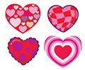 T 83012 KALEIDOSCOPE HEARTS STICKERS