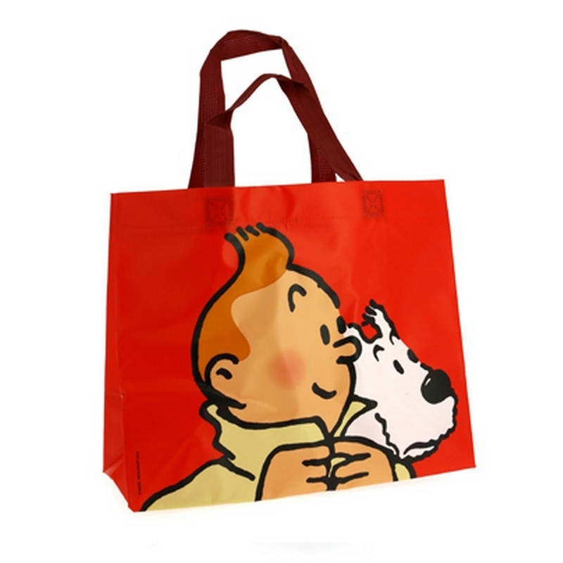 Tintin and Snowy Red Waterproof Bag