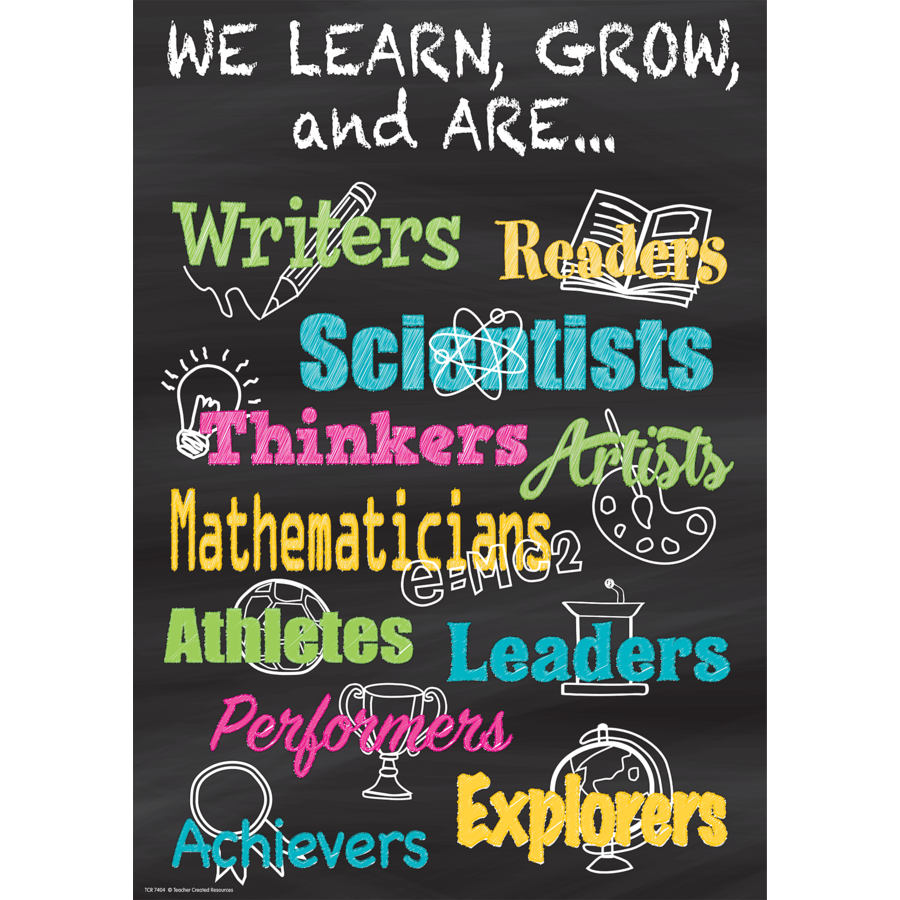 TCR 7404 WE LEARN, GROW, AND ARE... POSITIVE POSTER