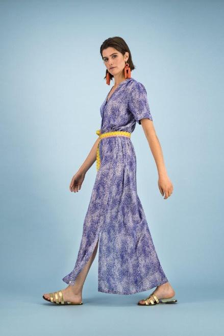 POM Dress Leopard Drops Blue