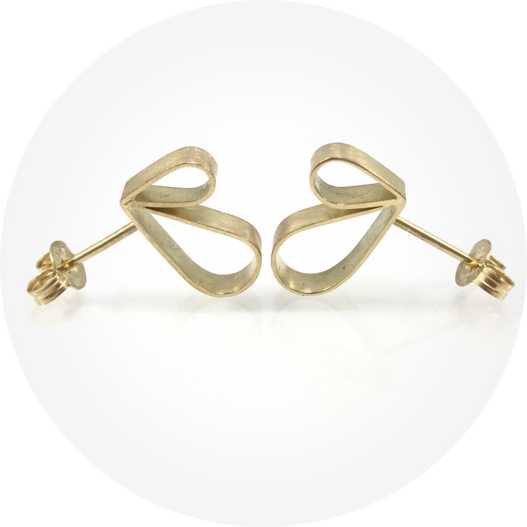 Susan Ewington - Double loop stud earrings in 18ct yellow gold