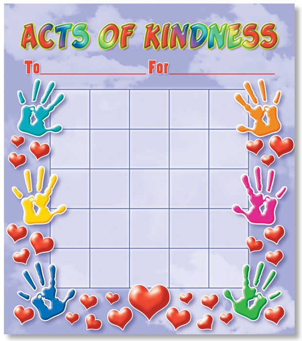 X NS 2303 ACTS OF KINDNESS MINI INCENTIVE CHART