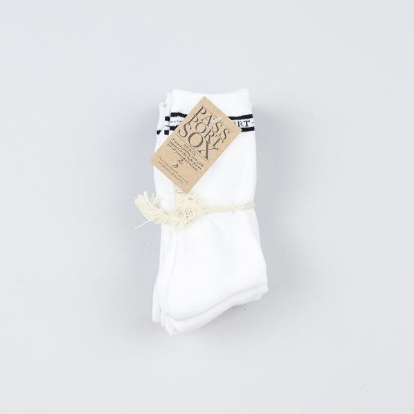 Pass Port 5pk Socks White