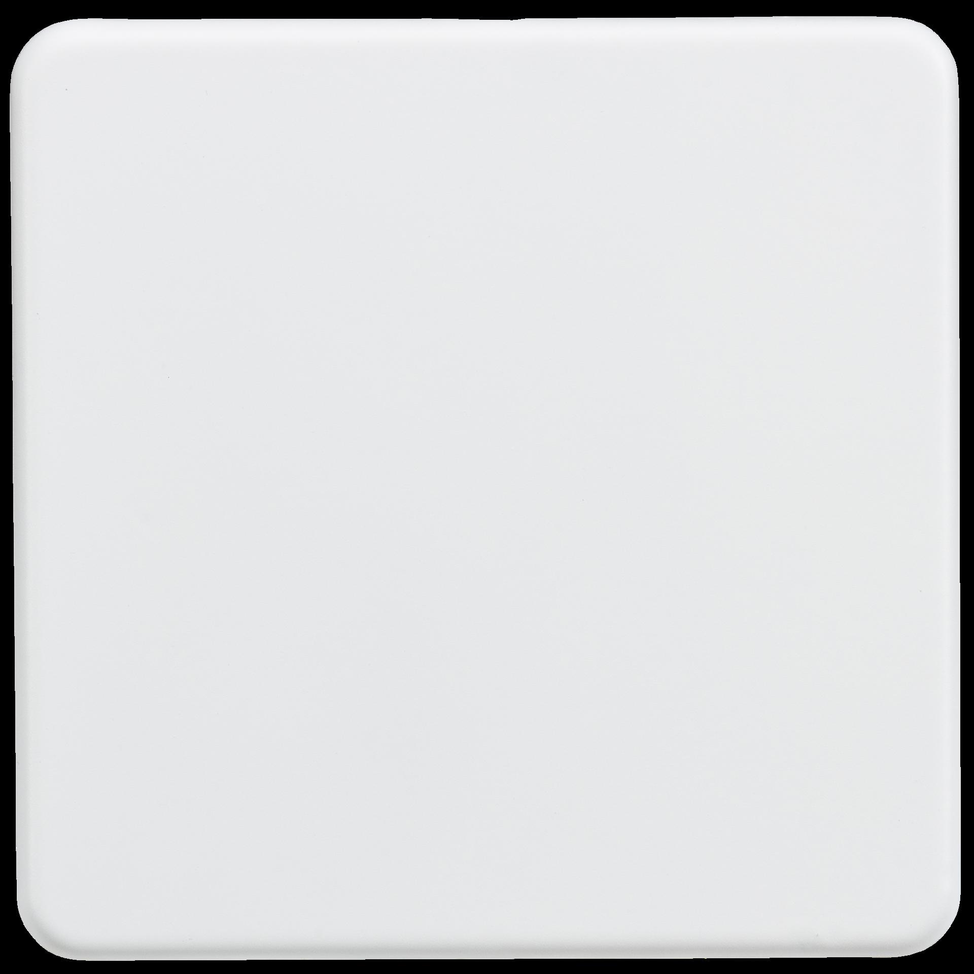Screwless 1G blanking plate - Matt white