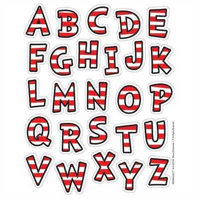 X EU 655084 DR SEUSS CLASSIC ABC STICKERS
