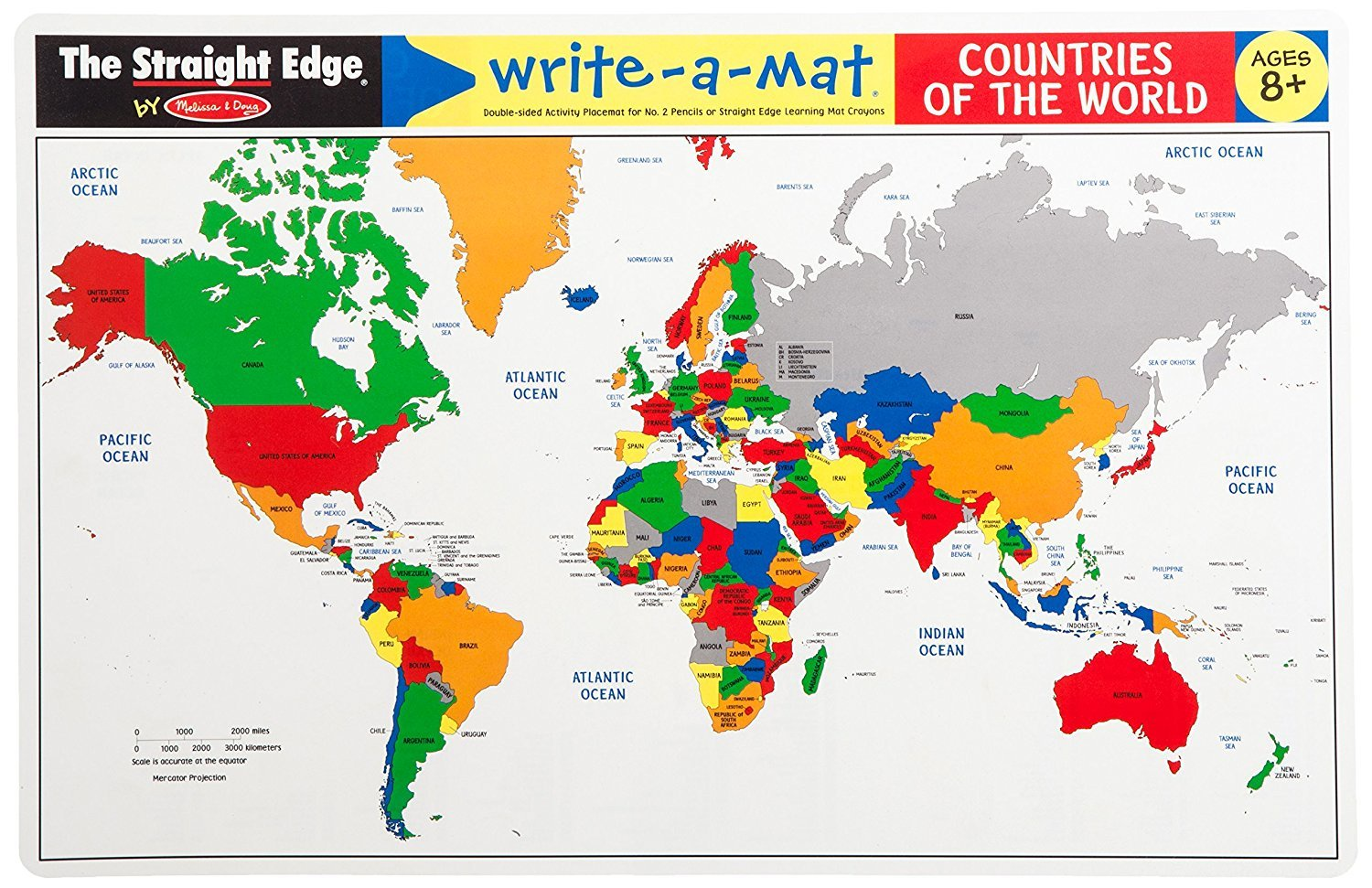 MD 5017 COUNTRIES OF THE WORLD WRITE A MAT