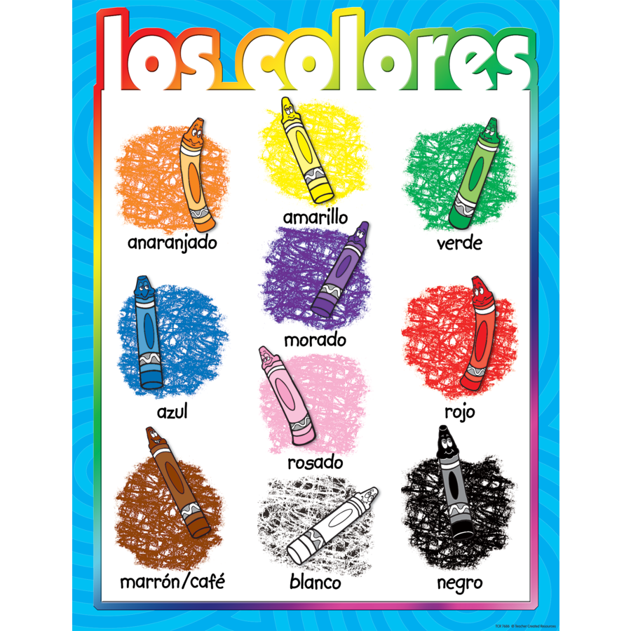 TCR 7686 LOS COLORES CHART