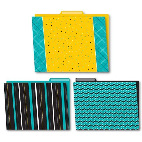 X CD 136005 BLACK, WHITE AND BOLD FILE FOLDERS
