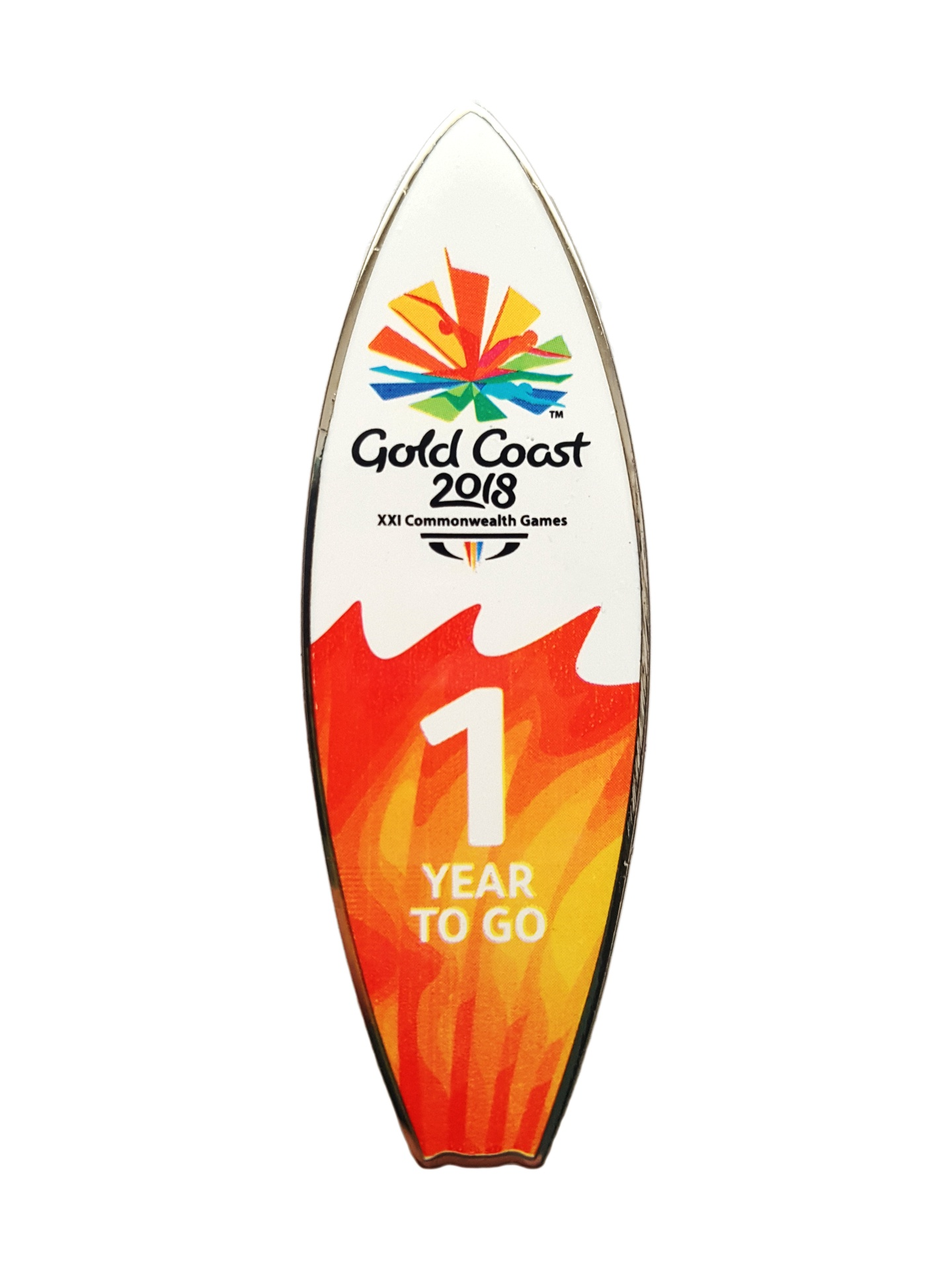 GC2018 One Year to Go Pin Image