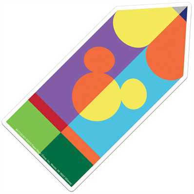 X EU 841112 GEO MICKEY PENCIL CUTOUTS