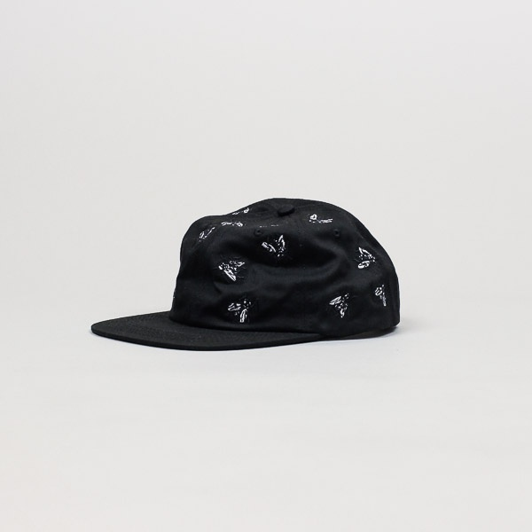 Fucking Awesome Flies Hat Black