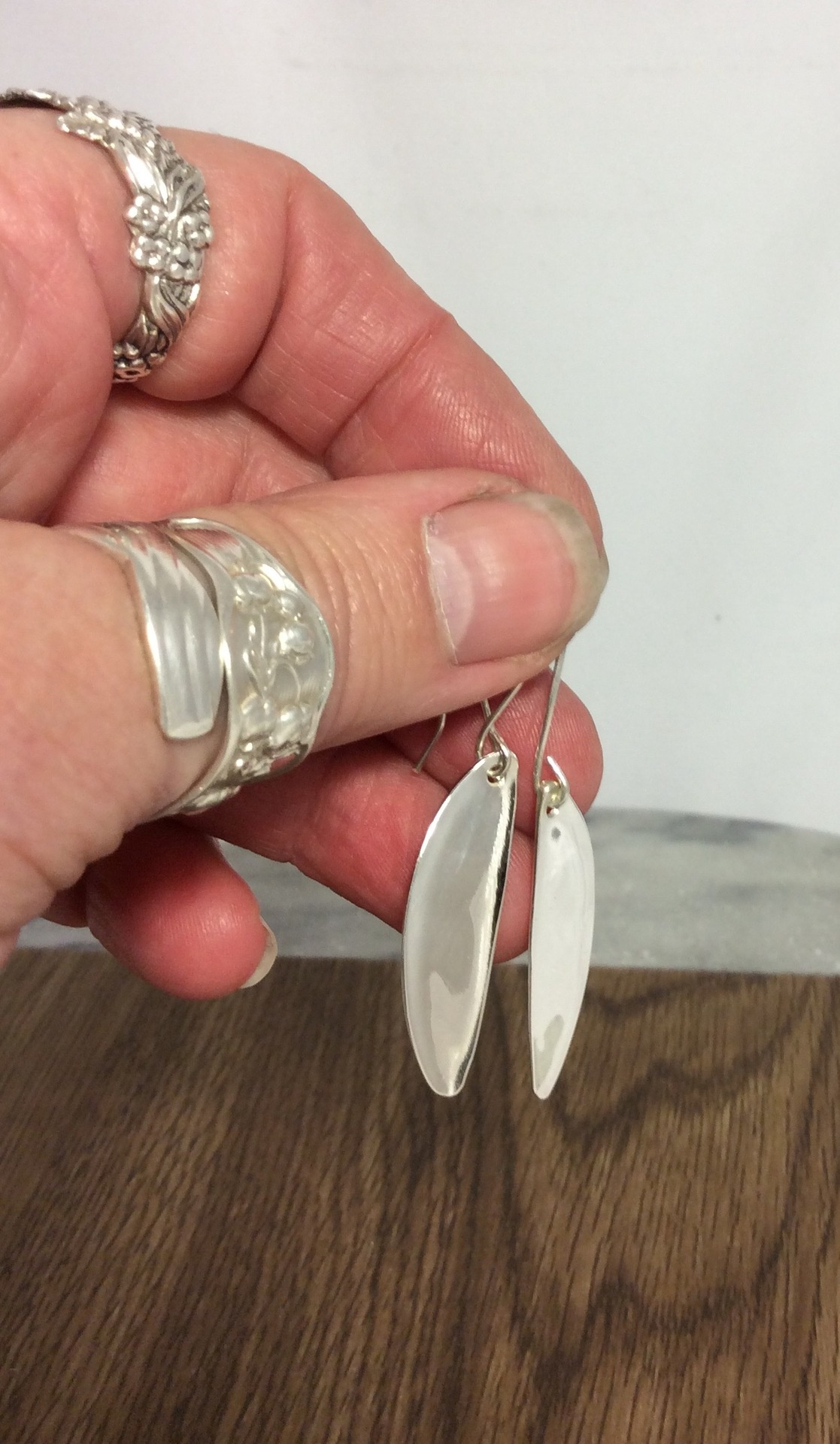Sterling Silver Hand Made Earrings