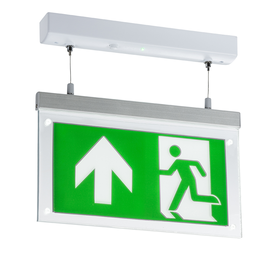 230V 2W LED Suspended Double-Sided Emergency Exit Sign (maintained use only)