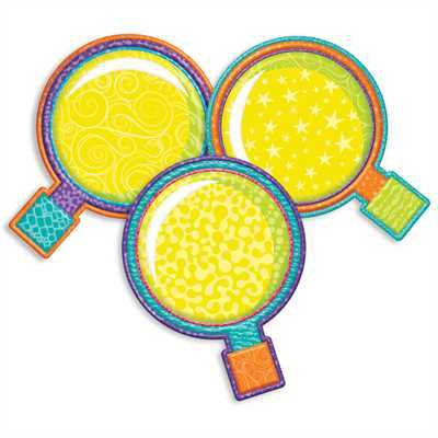 EU 841354 COLOR MY WORLD MAGNIFYING GLASS PAPER CUTOUTS