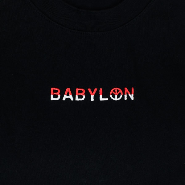 Babylon Embroidered Shop Tshirt Red / White / Black
