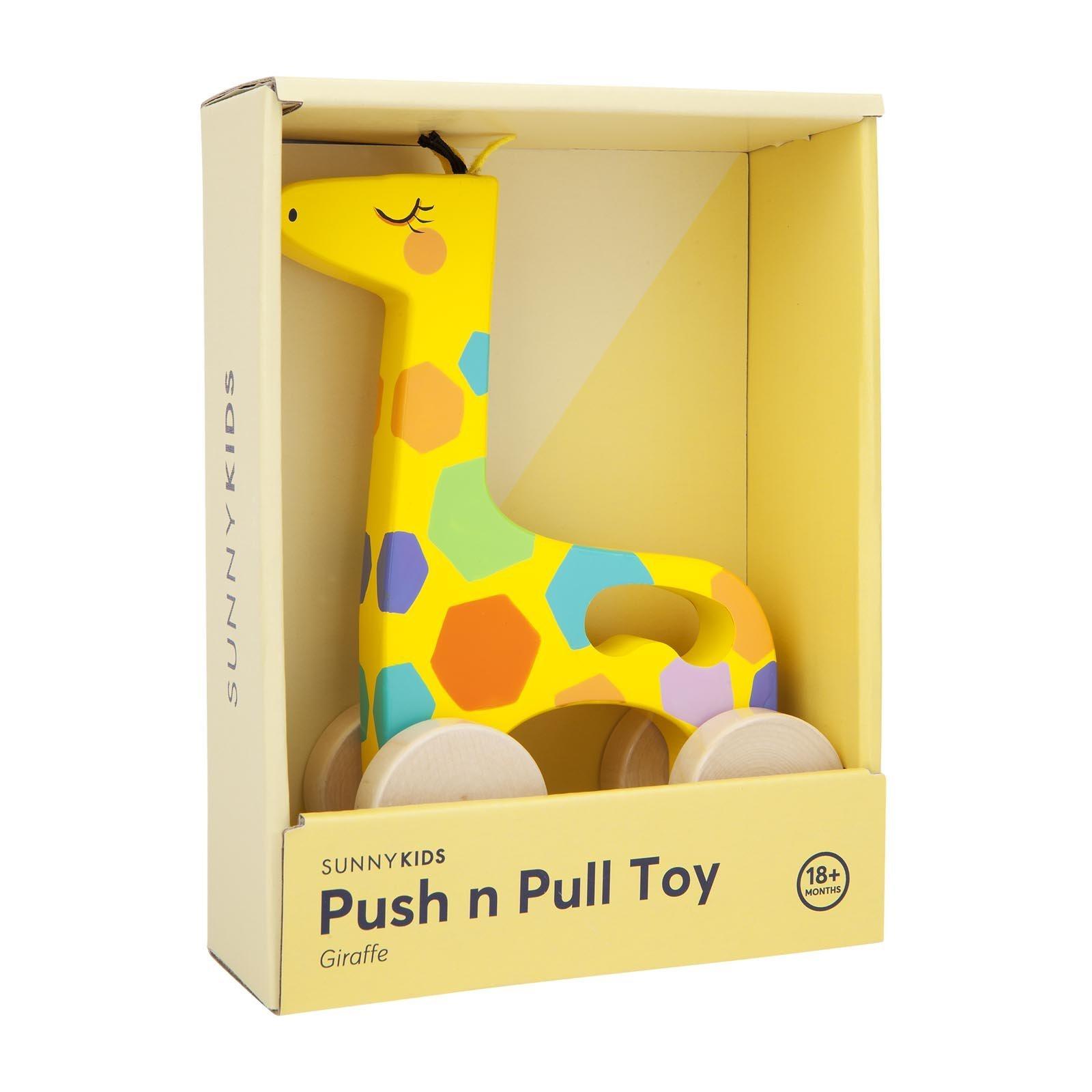 Sunny Life Giraffe Push n Pull Toy