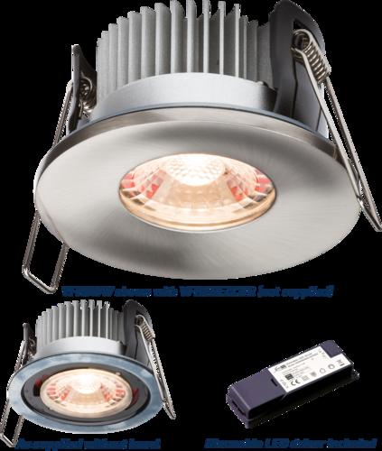 PROKNIGHT LED IP65 8W Fire-Rated Downlight 2700K