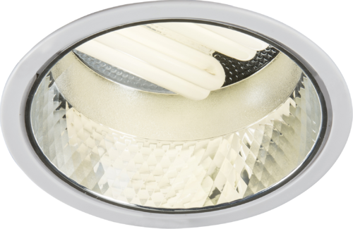 Recessed 225mm Twin PL Downlight 2x18W (cut out 205mm) with Gearbox and Ballast and 200mm Flex