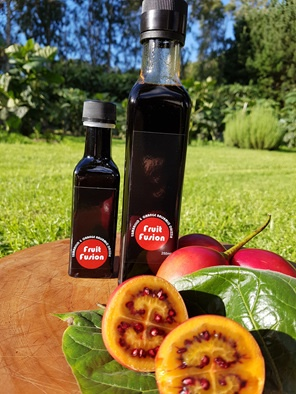 tamarillo & orange balsamic drizzle