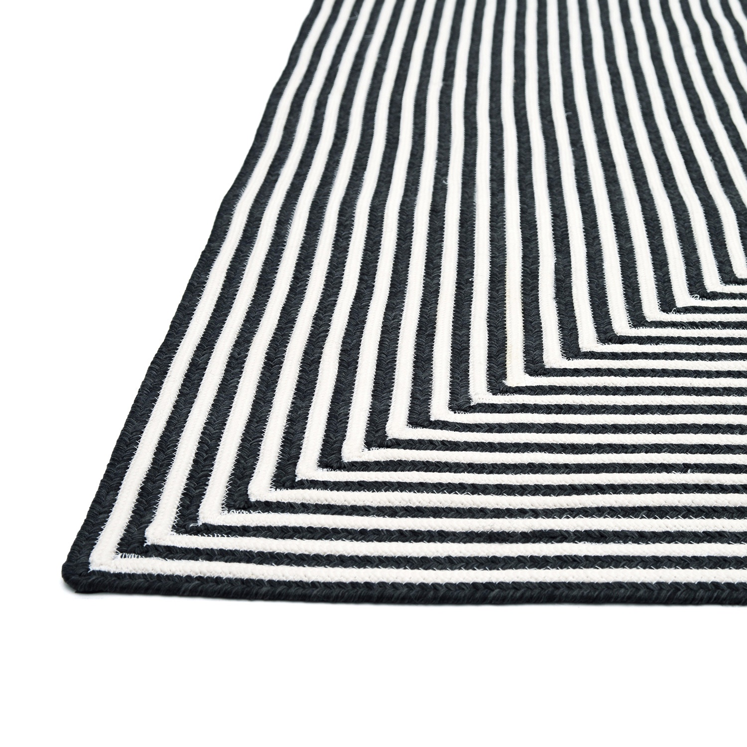Inout Blackwhite Rug 36x56 Outdoor Rugs Whim House