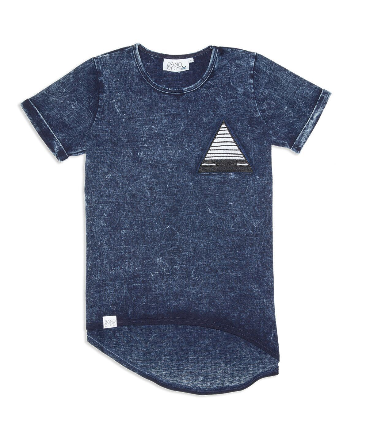 Just a Triangle Patch Asymmetric Tee,