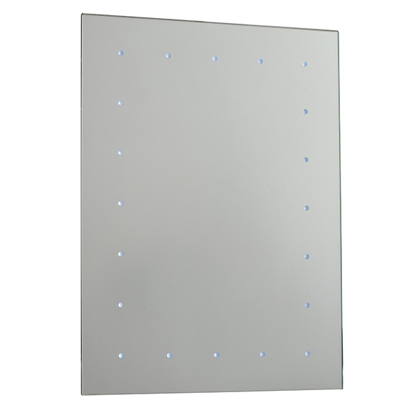 Toba battery operated mirror IP44 0.07W SW wall - mirrored glass