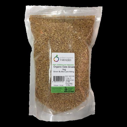 United Organic Farmers - Oat Groats 1kg