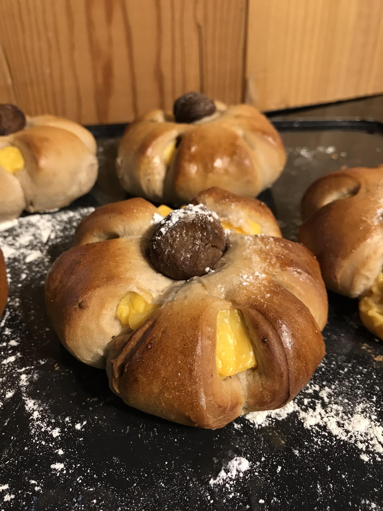2018-03-17栗子吉士麵包 Chestnut Custard Bread