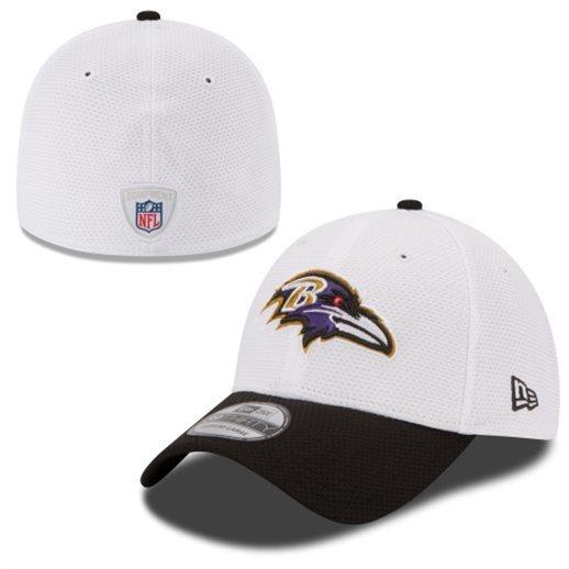 NFL Baltimore Ravens New Era 39Thirty Onfield White Training Camp Hat  bc563382697
