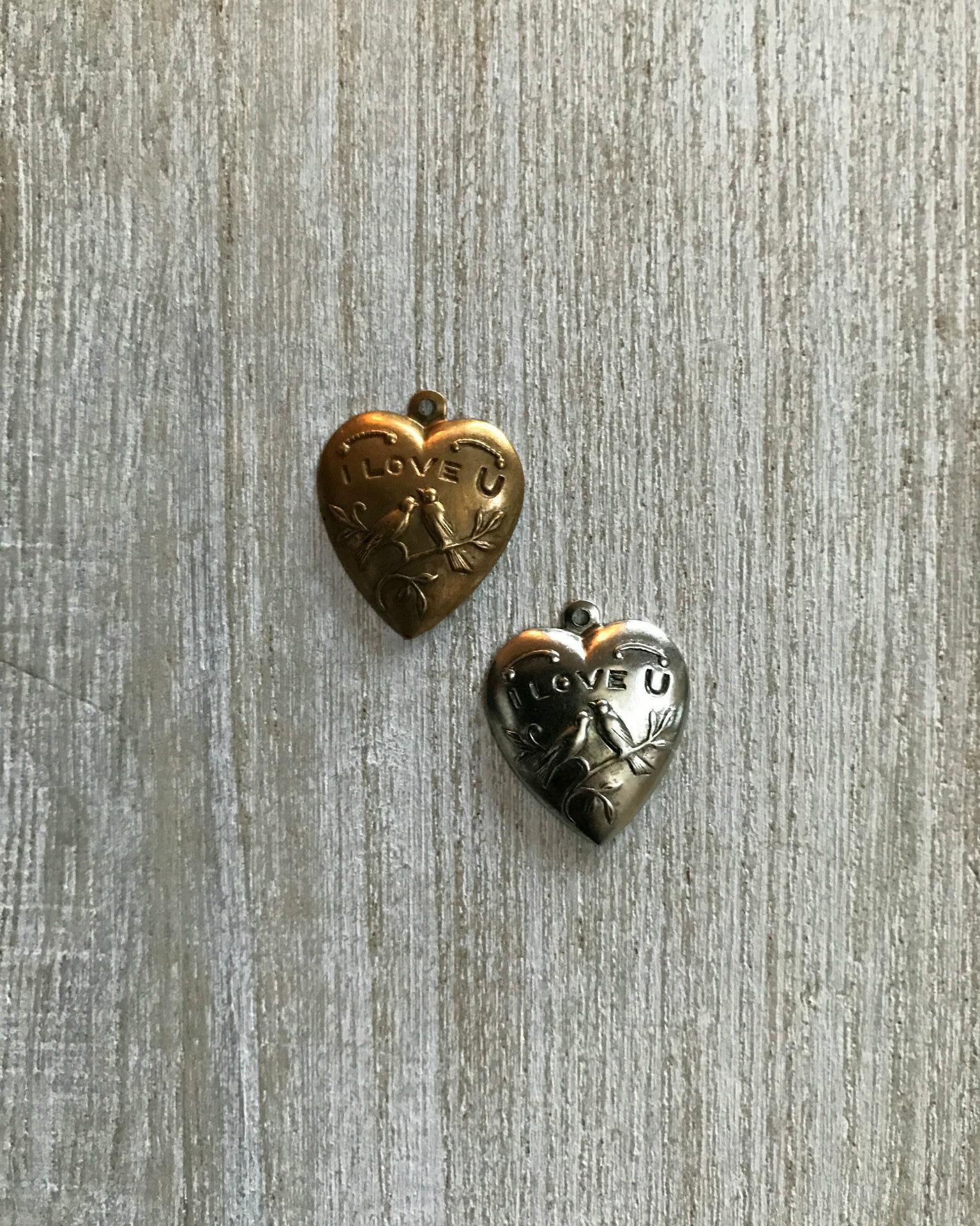 Love Birds Heart Charm