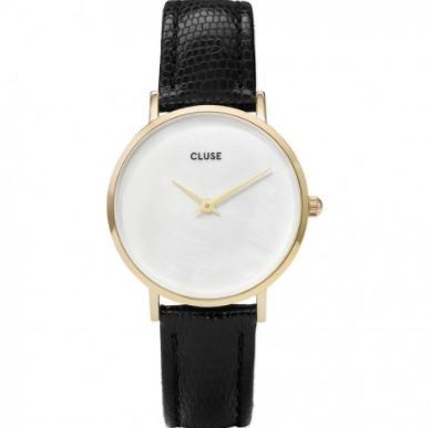 Cluse Watch CL30048 Minuit Pearl Face Lizard Strap