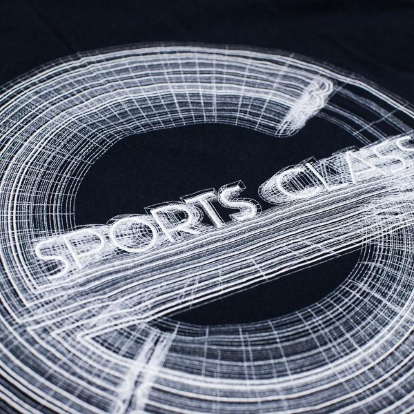 Sports Class 3D Mesh Logo Tshirt Navy