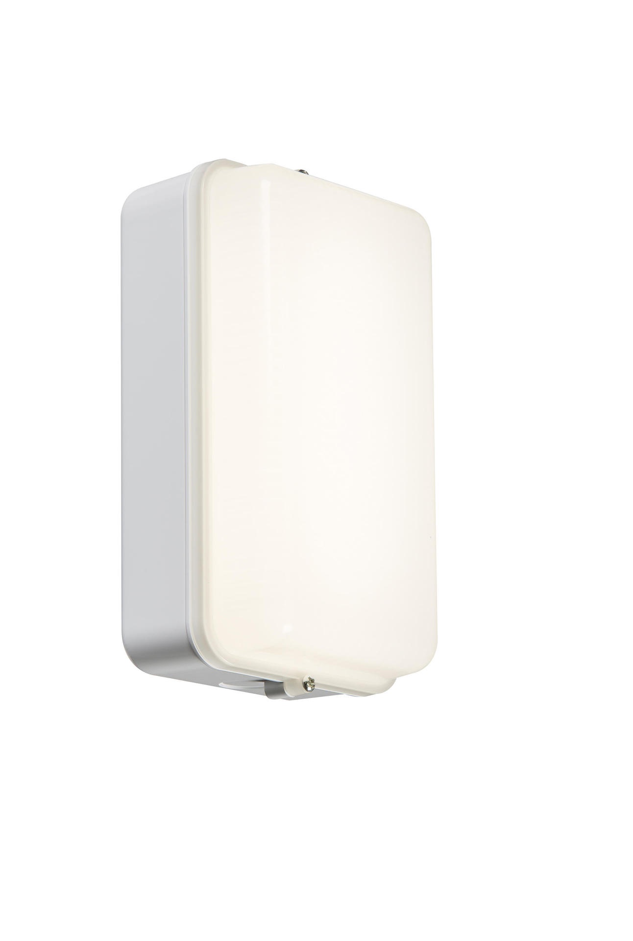 230V IP54 5W LED Security Amenity Bulkhead White Base with Opal Diffuser Cool White 4000K
