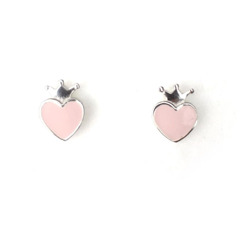 Lauren Hinkley Pink Crown Earrings with Box