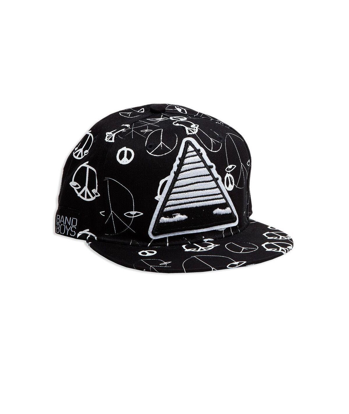 Peace Out Patch Hip Hop Cap, Black
