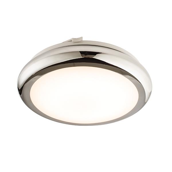 Sigma LED 290mm flush IP44 8W warm white - chrome plate