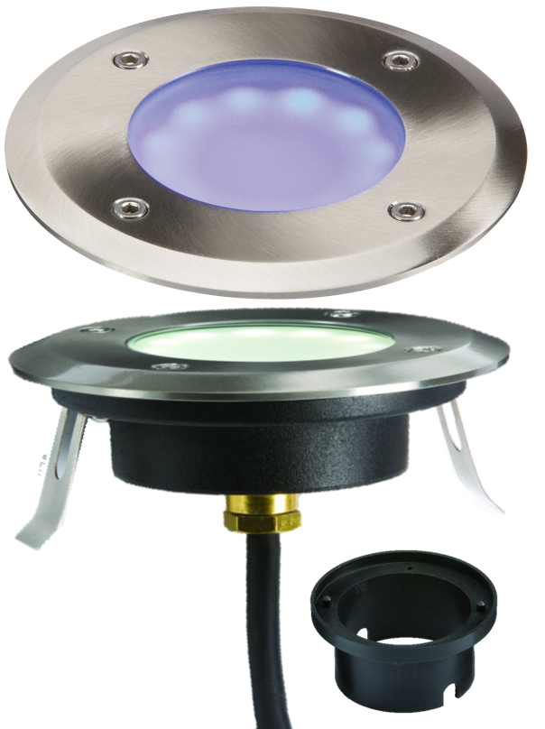230V IP65 1.2W LED BLUE GROUND/DECK LIGHT